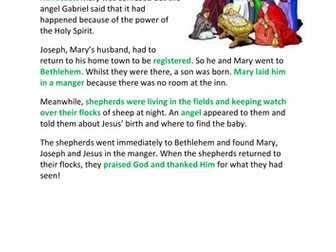 Birth of Jesus Luke and Matthew Comparison Nativity Christmas Story
