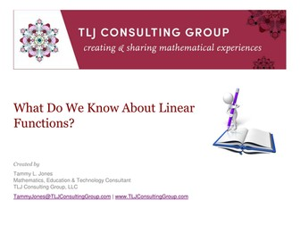 What Do We Know About Linear Functions?