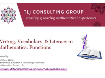 Writing, Vocabulary & Literacy in Mathematics: Functions