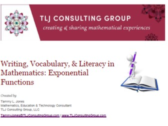 Writing, Vocabulary & Literacy in Mathematics: Exponential Functions