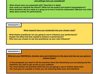 New AQA GCSE Drama Devising Log Resource Pack