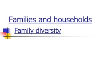 Families and Households - Powerpoint
