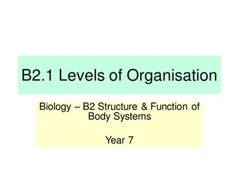 Activate KS3 Science - Module B2 Structure & Function
