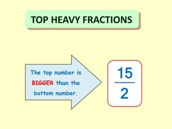 Top Heavy Fractions