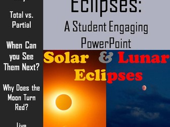 Eclipses: Lunar and Solar PowerPoint