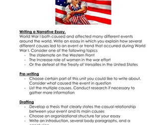 Essay On My Family In English Writing Assignment Cause And Effect America Enters World War I By  Linni  Teaching Resources  Tes Examples Of High School Essays also High School Narrative Essay Examples Writing Assignment Cause And Effect America Enters World War I By  How To Write A High School Application Essay