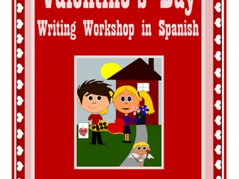 Valentine's Day Writing Centers in Spanish