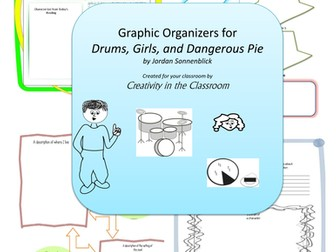 Graphic Organizers for Drums Girls and Dangerous Pie