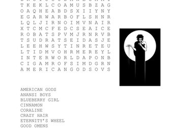 Neil Gaiman Books Wordsearch