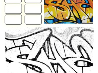 Set of 3 Graffiti Worksheets