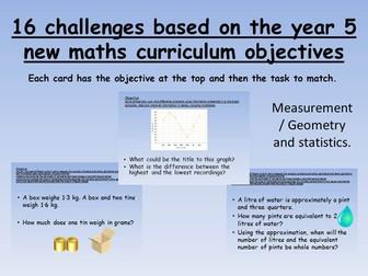 reasoning challenges based on measure