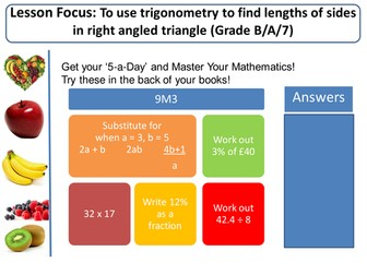 SOHCAHTOA Trigonometry!