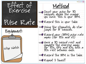 Effect of Exercise Experiments and Worksheets