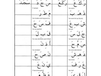 Arabic join letter worksheet