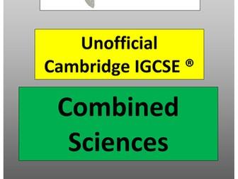 2016 0653 Cambridge IGCSE Combined Sciences Revision Guide