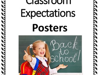 Classroom Expectations - Back to School Posters