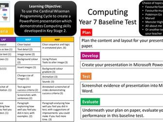 Year 7 Computing Baseline - using PowerPoint