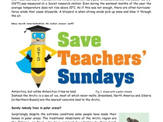 Comprehension on Polar Climates Lesson Plan and Worksheets
