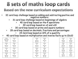 8 loop cards set