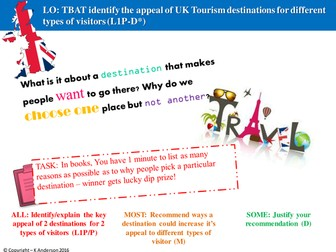 BTEC Travel and Tourism Unit 2_Learning Aim B Lessons