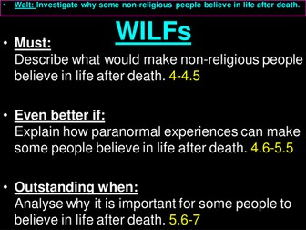Non-religious belief in life after death
