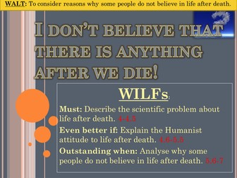 Arguments against belief in life after death