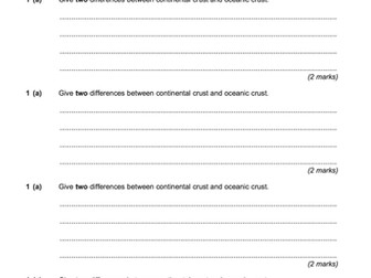AQA GCSE Specification A - The Restless Earth - 10 Lesson Topic Bundle