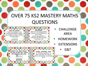 OVER 75 MASTERY MATHS CHALLENGES KS2