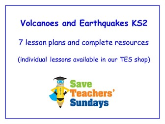 Volcanoes and Earthquakes Year 3 Planning and Resources