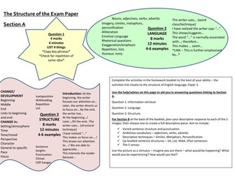 AQA Language Paper 1 HW Booklet