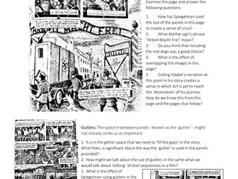 Visual Literacy used in MAUS by Art Spiegelman