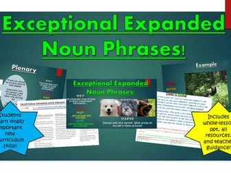 Exceptional Expanded Noun Phrases!