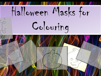 Halloween Masks for Colouring