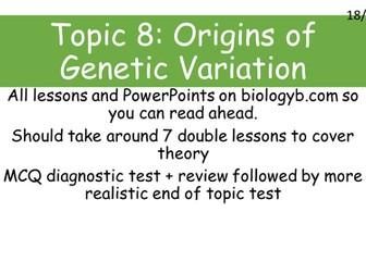 A-Level Biology B - Topic 8 - L6 Population Bottlenecks