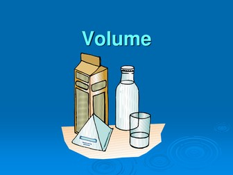 VOLUME - an introduction to finding the volume of a cuboid