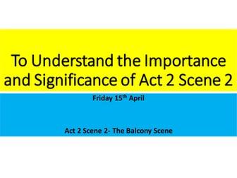 AQA Romeo and Juliet Act 2 Scene 2