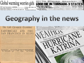 Geography in the News SOW with lessons and resources