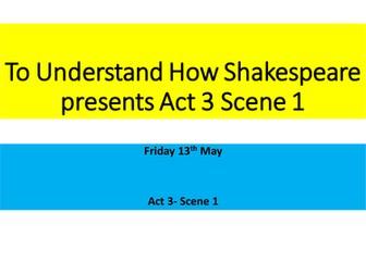AQA Romeo and Juliet Act 3 Scene 1