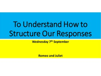 AQA Romeo and Juliet- Essay Lesson
