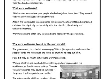 A Christmas Carol - Context - The Poor Law and Victorian Workhouses