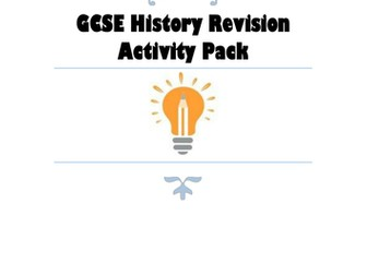 GCSE History Revision Activity Pack