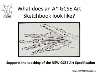 Art GCSE. Example level 8/9 Sketchbook. New GCSE Art Specification