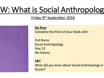 What is Social Anthropology?