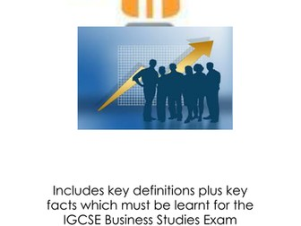 IGCSE Business Studies Key Revision notes