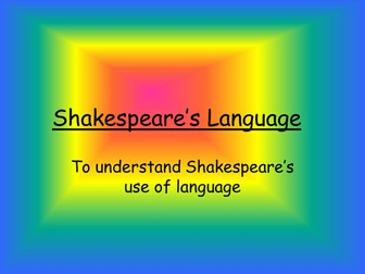 Introduction to Shakespeare - Shakespeare Catchphrase