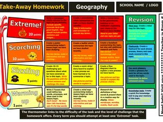 Takeaway homework