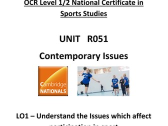 OCR National Certificate in Sports Studies R051 Teacher booklet LO1