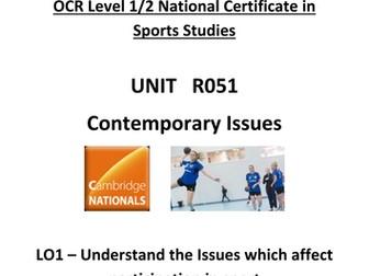OCR National Certificate in Sports Studies R051 Teacher booklet LO1
