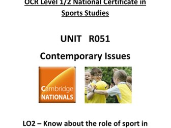 OCR National Certificate in Sports Studies R051 Teacher booklet LO2