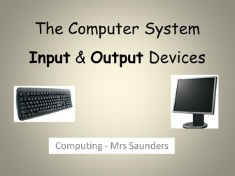 Technology - Input & Output Devices